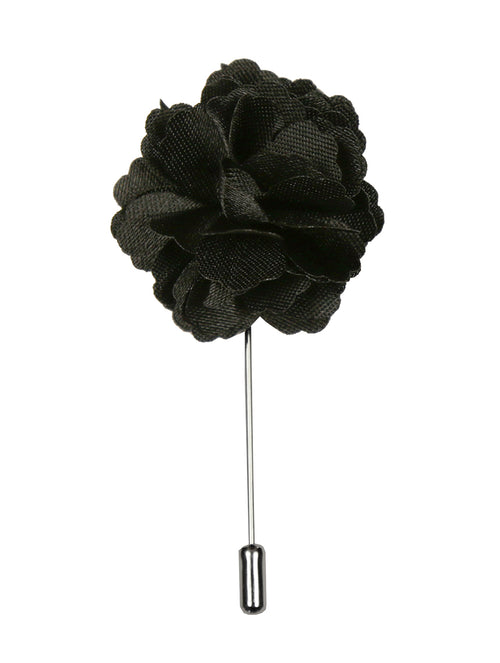 DÉCLIC Flower Lapel Pin - Black