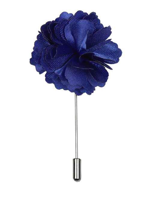 DÉCLIC Flower Lapel Pin - Royal