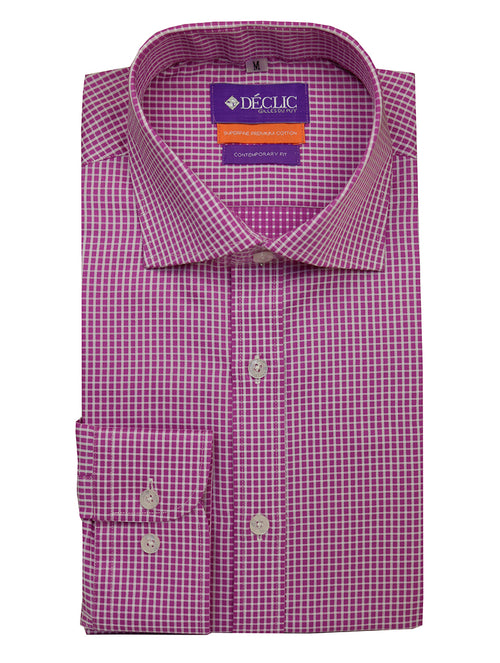 DÉCLIC Fondi Check Shirt - Magenta