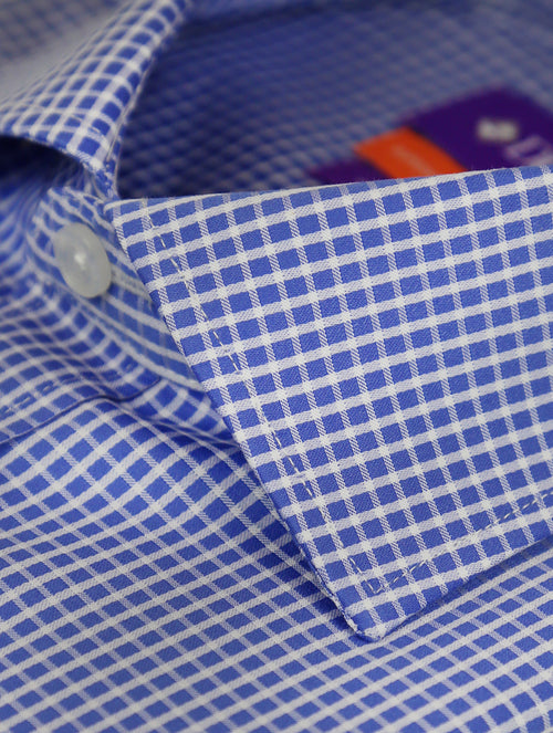 DÉCLIC Fondi Check Shirt - Blue
