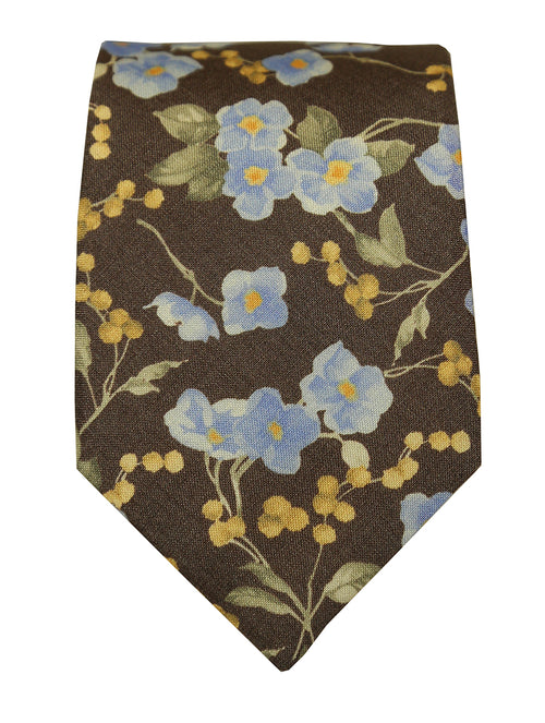 DÉCLIC Matu Floral Tie - Brown