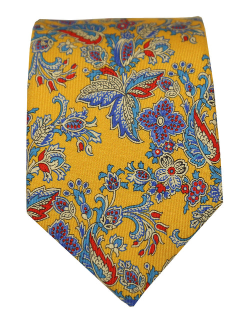 DÉCLIC Lussuria Floral Tie - Yellow