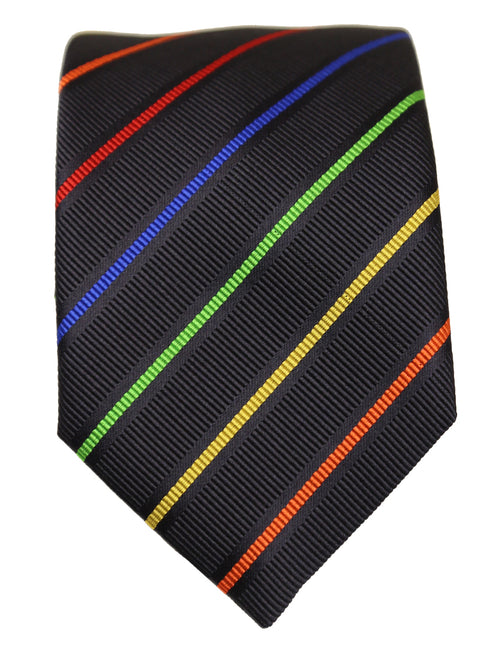 DÉCLIC Arcus Stripe Tie - Black/Assorted