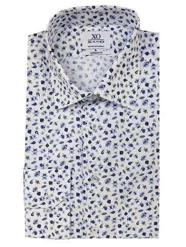 DÉCLIC Aquarelle Print Short Sleeve Shirt - Assorted