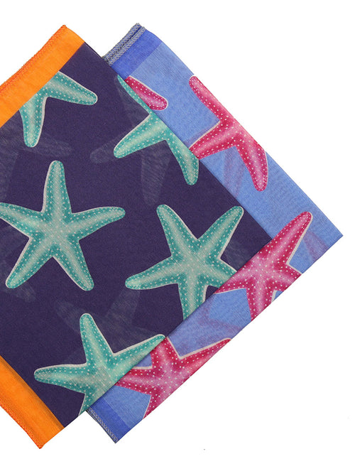 DÉCLIC Starfish Tuile Hanky - Assorted