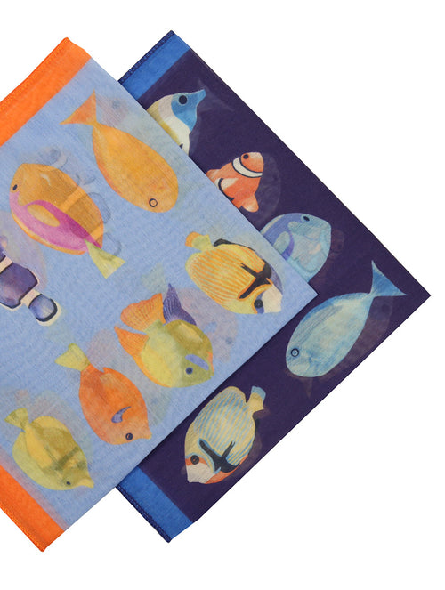 DÉCLIC Fish Tuile Hanky - Assorted