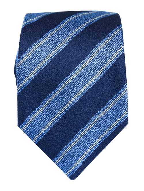 DÉCLIC Lorides Stripe Tie - Navy/Blue