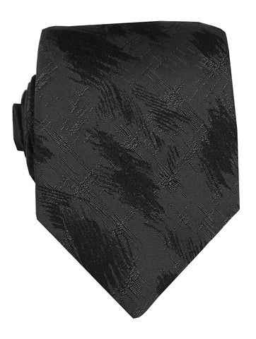 DÉCLIC Concrete Check Tie - Black