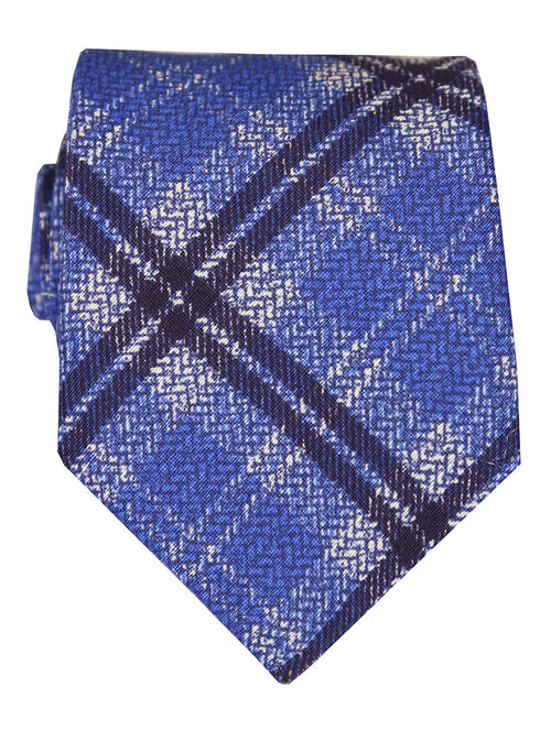 DÉCLIC Large Check Tie - Blue