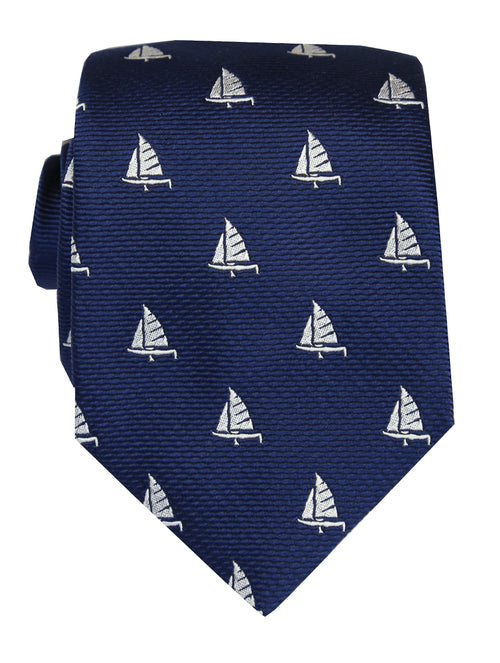 DÉCLIC Boat Themed Tie - Navy
