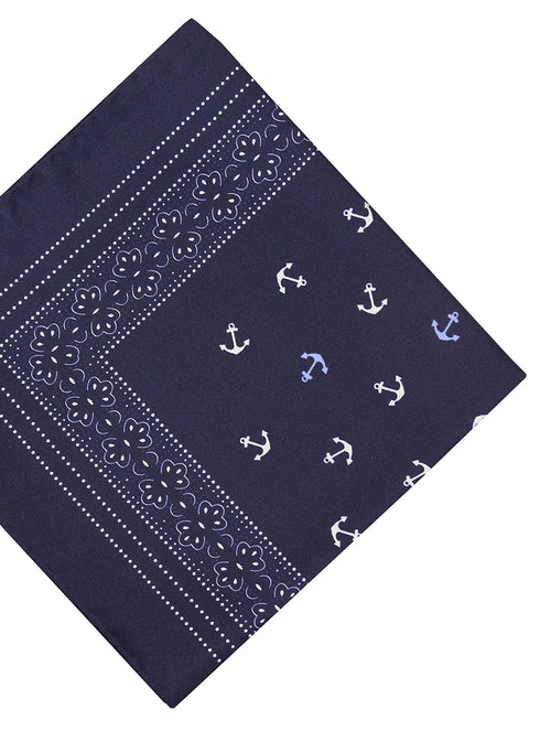 DÉCLIC Anchor Hanky - Navy