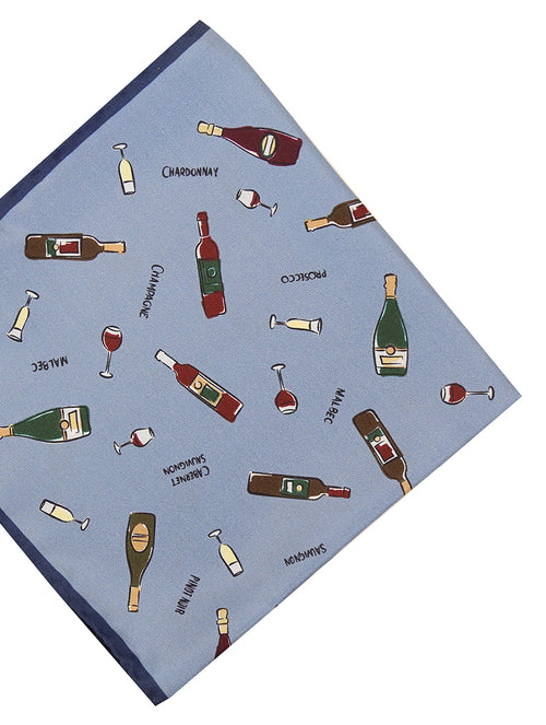 DÉCLIC Wine Hanky - Blue