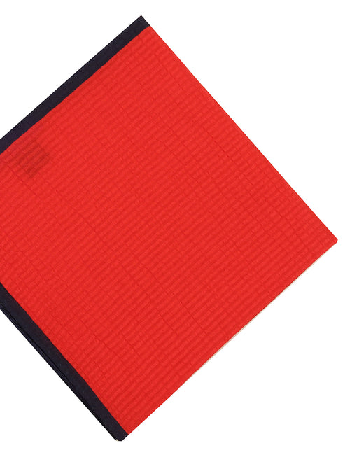 DÉCLIC Seersucker Block Hanky - Red