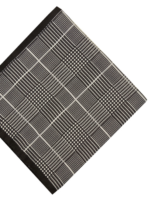 DÉCLIC Houndstooth Hanky - Black/White
