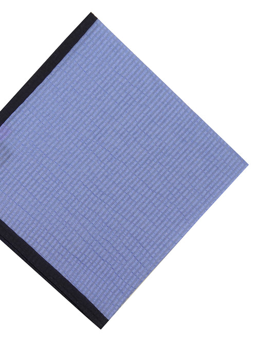 DÉCLIC Seersucker Block Hanky - Blue