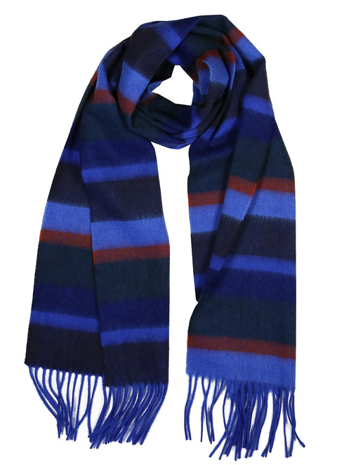 DÉCLIC Peacock Stripe Scarf - Blue