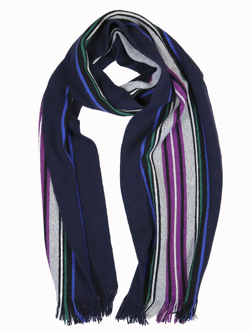 DÉCLIC Massif Stripe Scarf - Purple