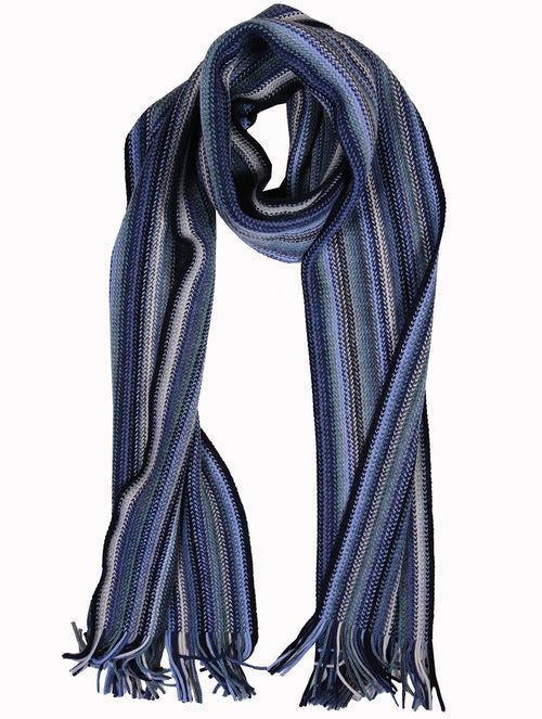 DÉCLIC Myles Multi Stripe Scarf - Blue