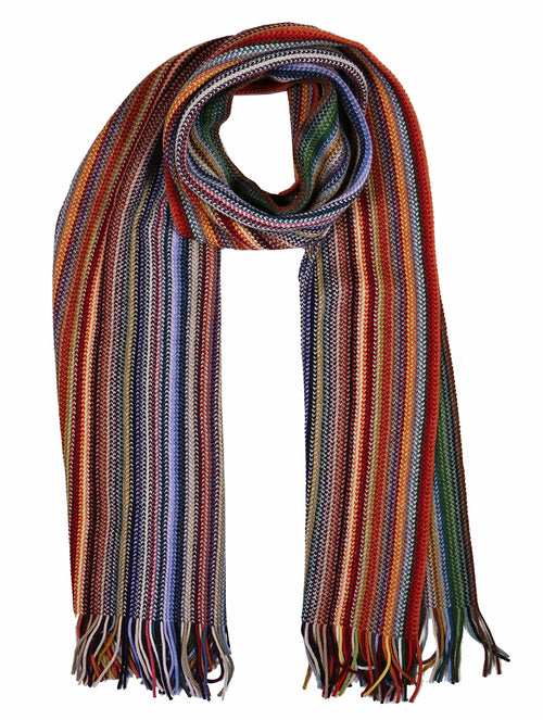 DÉCLIC Myles Multi Stripe Scarf - Orange
