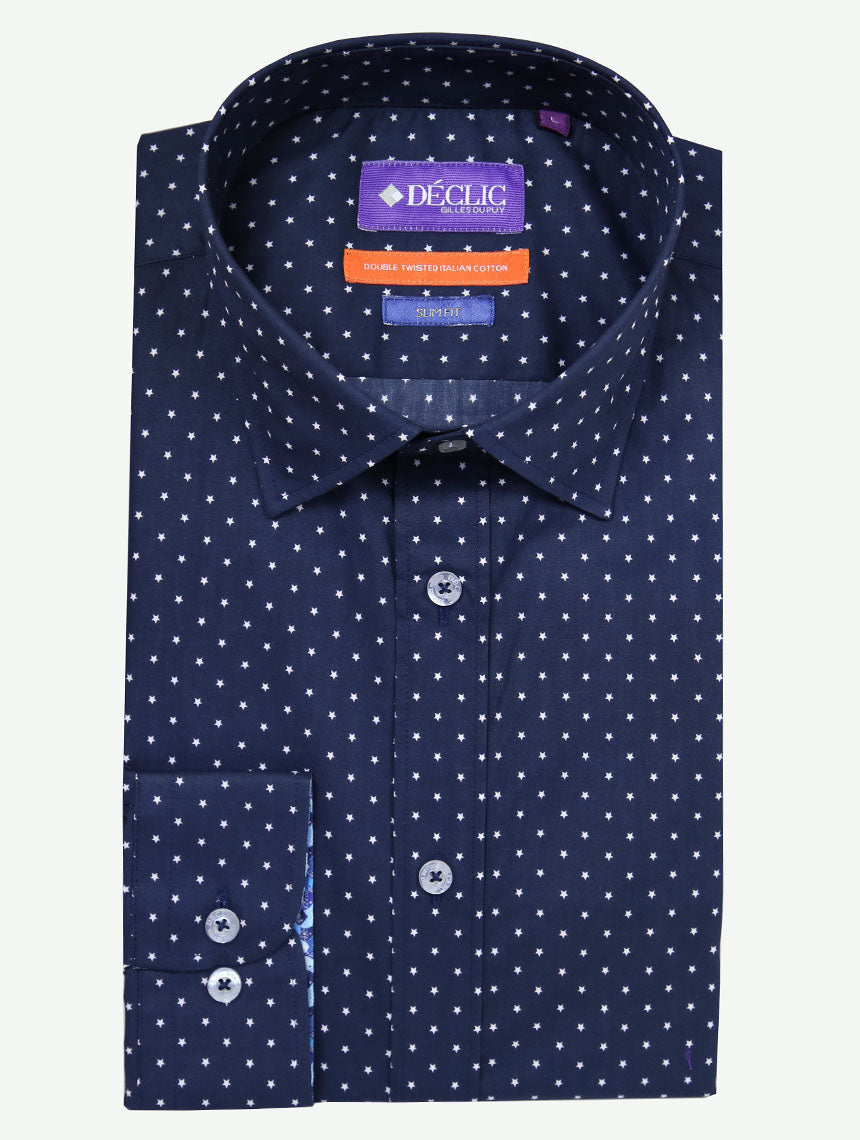DÉCLIC Starry Print Shirt - Navy