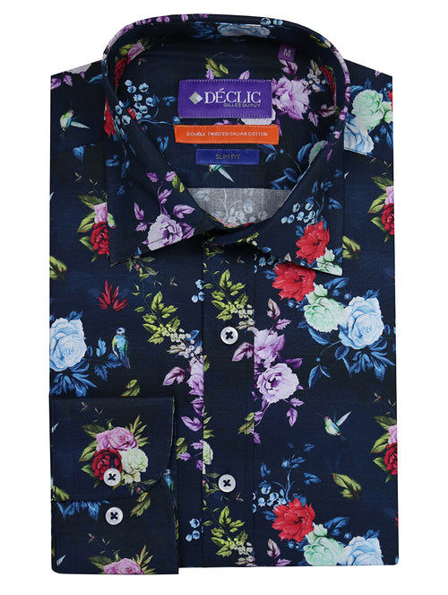 DÉCLIC Hummingbird Print Shirt - Assorted