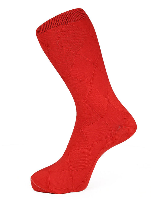DÉCLIC Plain Diamond Socks - Red