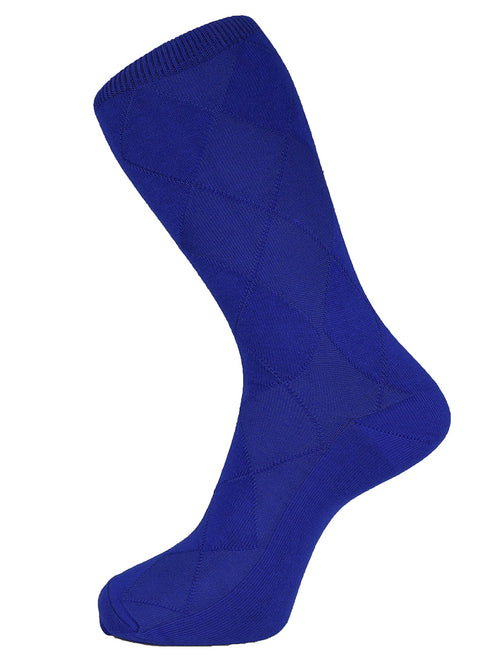 DÉCLIC Plain Diamond Socks - Royal