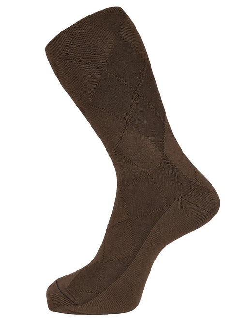 DÉCLIC Plain Diamond Socks - Brown