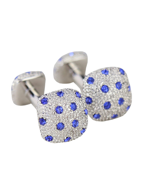 DÉCLIC  Diamante Mass Cufflink - Blue
