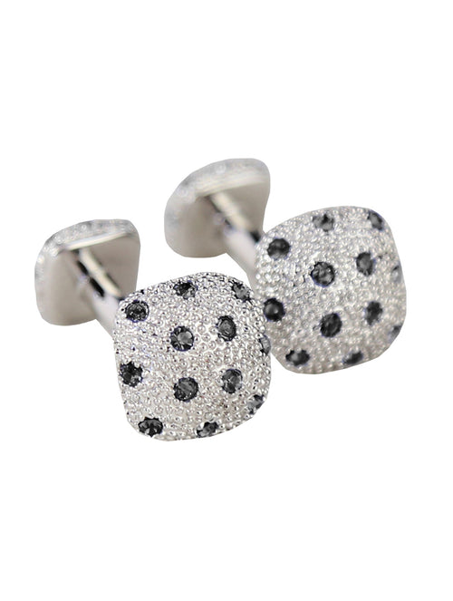 DÉCLIC  Diamante Mass Cufflink - Black