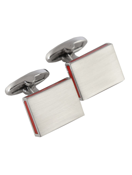 DÉCLIC Bordered Edge Cufflink - Red