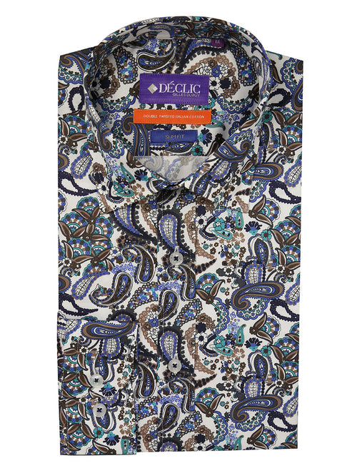 DÉCLIC Multifold Paisley Print Shirt - Assorted