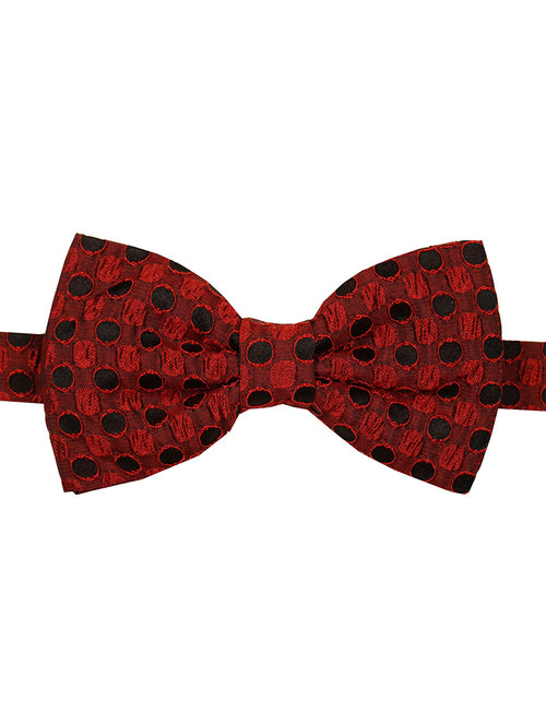 DÉCLIC Mash Spot Bow Tie - Red