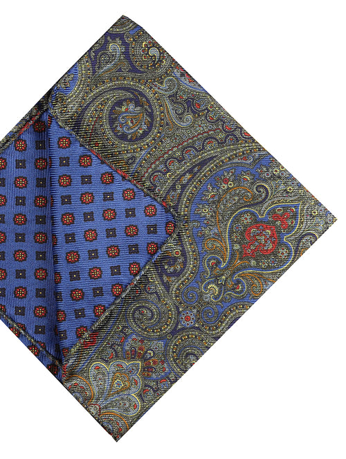 DÉCLIC Levanzo Paisley Hanky - Olive/Blue
