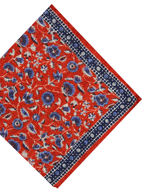 DÉCLIC Praiano Floral Hanky - Red