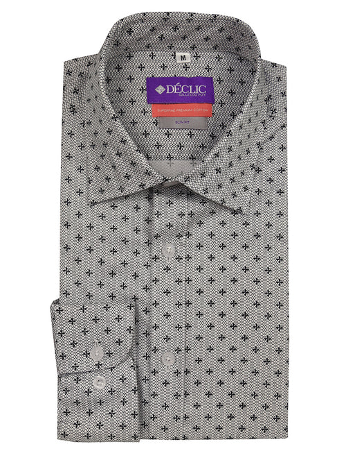 DÉCLIC Knighted Print Shirt - Black