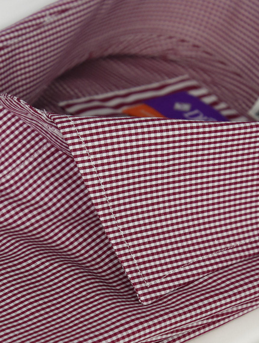 DÉCLIC Severn Check Shirt - Burgundy