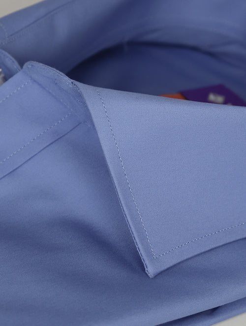 DÉCLIC Calder Plain Shirt - Blue