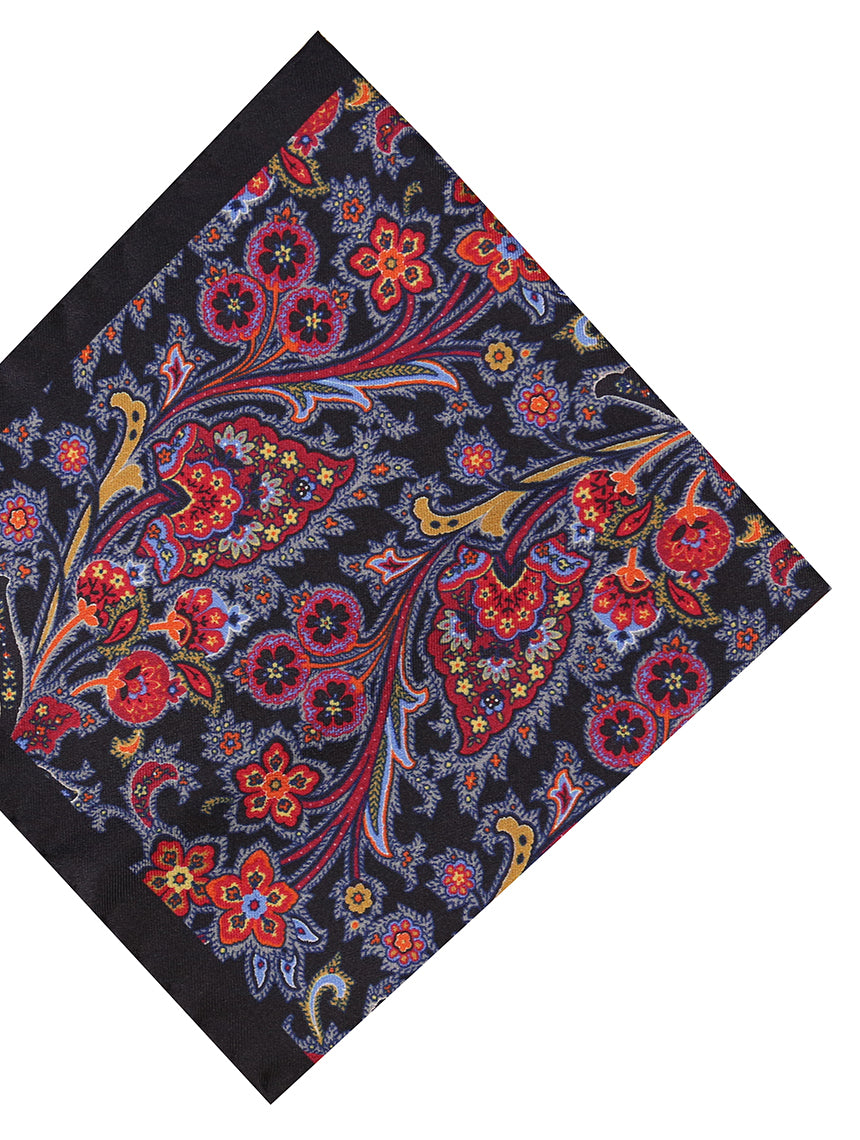 DÉCLIC Sareno Paisley Hanky - Black/Assorted