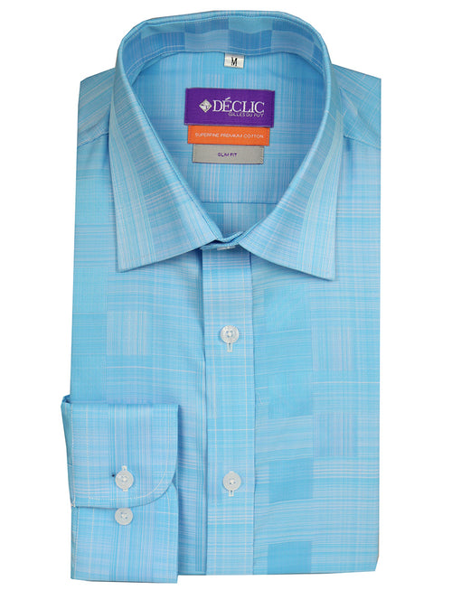DÉCLIC Gofret Check Shirt - Aqua