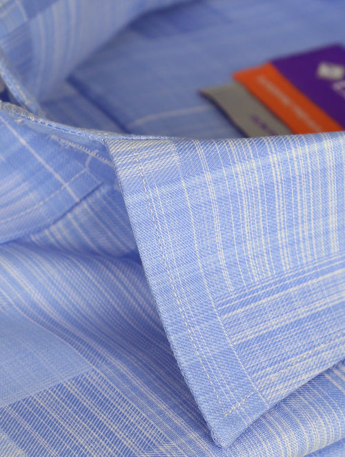 DÉCLIC Gofret Check Shirt - Blue