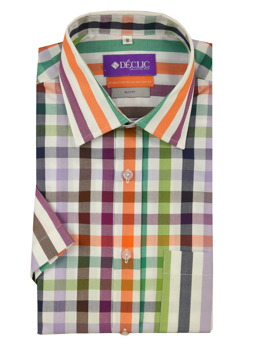 DÉCLIC Adorn Panel Short Sleeve Shirt - Assorted