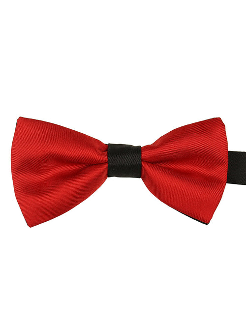 DÉCLIC 2-Tone Bow Tie - Red-Black