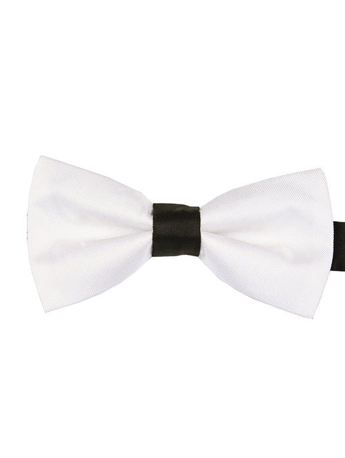 DÉCLIC 2-Tone Bow Tie - White-Black