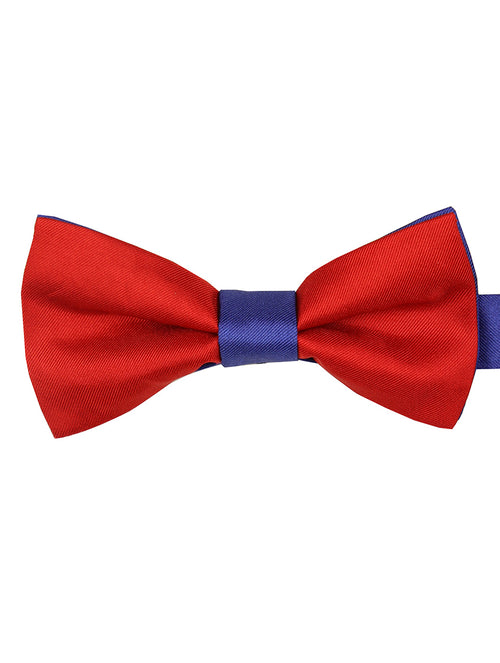 DÉCLIC 2-Tone Bow Tie - Red-Royal