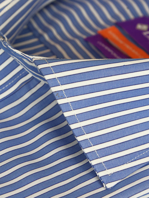DÉCLIC Hitchin Stripe Shirt - Blue