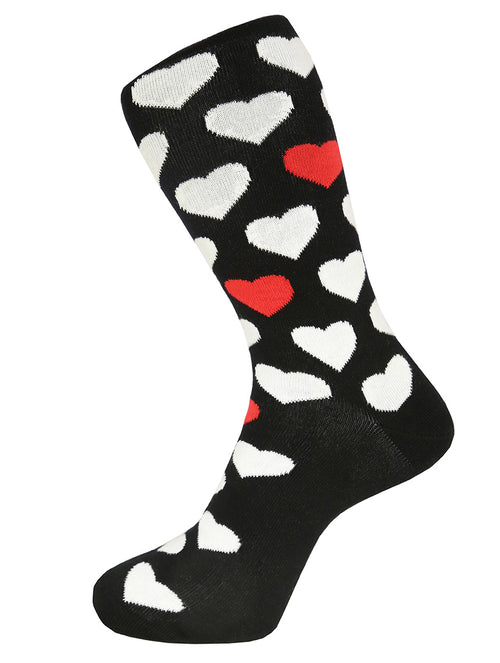 DÉCLIC Hearts Socks - Black