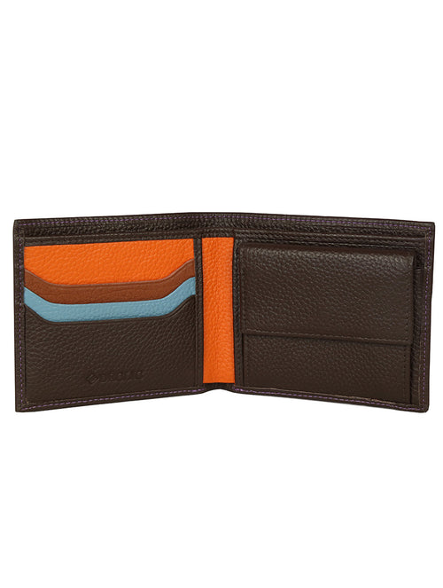 DÉCLIC Racer Stripe Bi-Fold Wallet - Chocolate