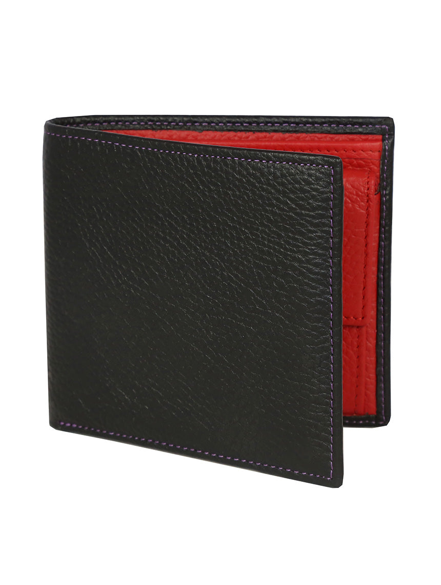 DÉCLIC Block Bi-Fold Wallet - Black-Red