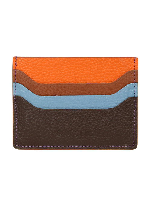DÉCLIC Racer Stripe Credit Card Wallet - Chocolate